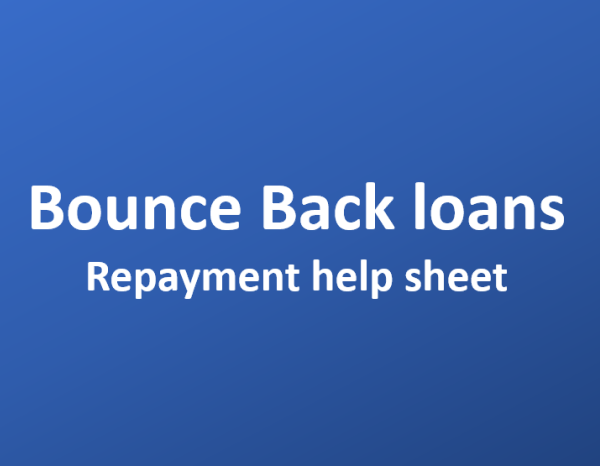 Bounce Back Loan – repayment help sheet